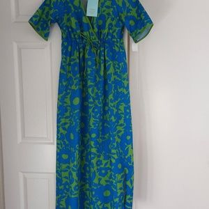 NWT BedHead Vintage Inspired Blue Floral Nightgown